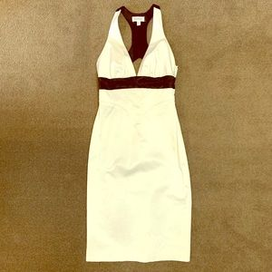 Bebe Black and white midi dress